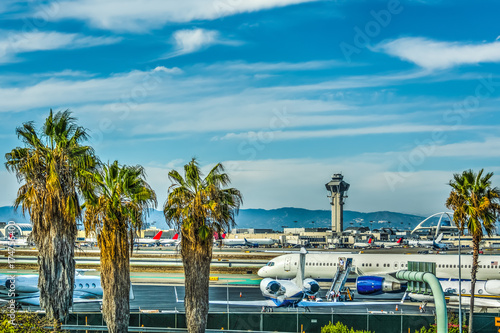 Fotobehang Luchthaven Los Angeles International Airport apron