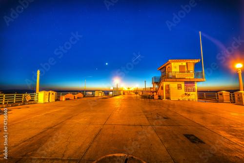 Obraz na dibondzie (fotoboard) Manhattan Beach molo przy nocą