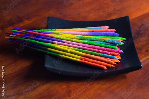 Zdjęcie XXL Kolorowe kadzidło