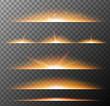 Different pattern of orange lights on gray background