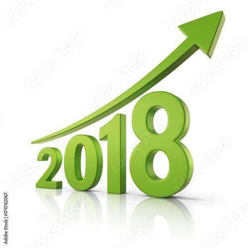 Fotografia  2018 Growth forecast concept