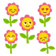 Cute Flower Faces