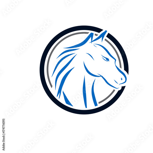 Fototapety, obrazy: horse care logo