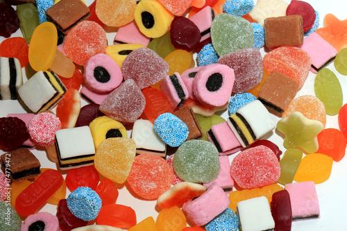 Keuken foto achterwand Snoepjes Mixure of candy