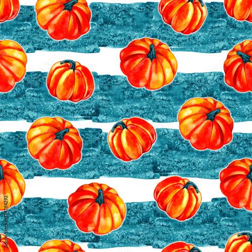 artystyczny-bez-szwu-wzor-halloween-zbior-recznie-rysowane-akwarela-dynia-na-bialym-tle