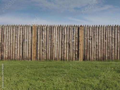 Fotografie, Obraz  Palisade wall of a fort