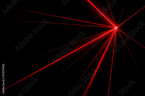 Photo  Laser beam light effect