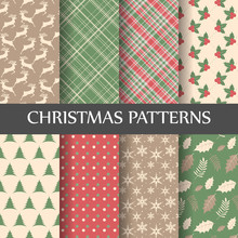 Merry Christmas Pattern Set