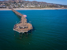 Ventura Beach Pier Southern California Sea American Flag