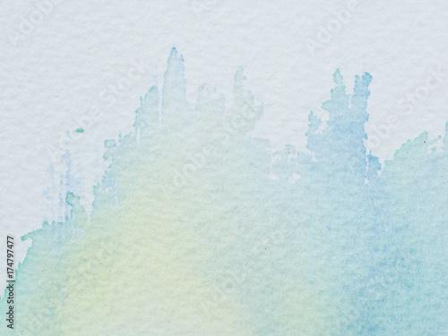 Plakat Kolor i tekstura koloru wody na papierze