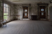 Ellis Island Abandoned Psychiatric Hospital Interior Rooms