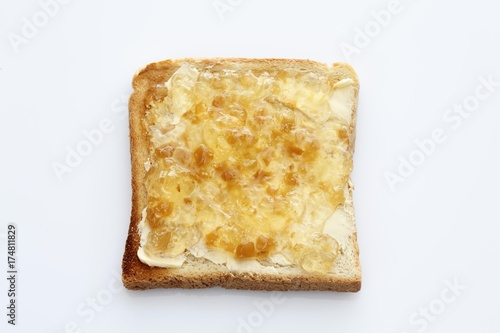 slice of toast toasted slice of bread with ginger jam buy this