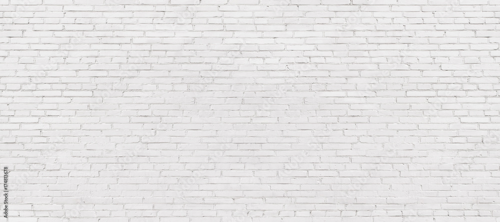 Fototapety, obrazy: whitewashed brick wall, light brickwork background for design. White masonry