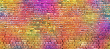 Painted Brick Wall, Abstract B...