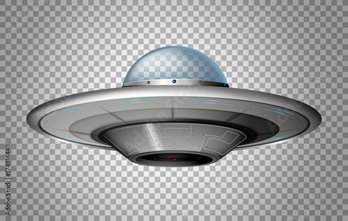 UFO in round shape Wallpaper Mural