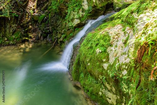 Fotobehang Watervallen Waterfalls immersed in nature.