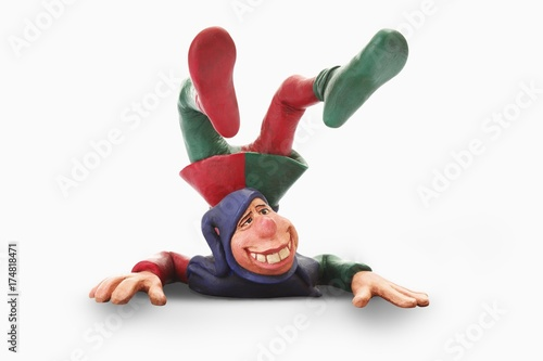 Fotografie, Tablou  Court jester, cartoon character