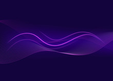 Background Template With Purple Wavy Lines