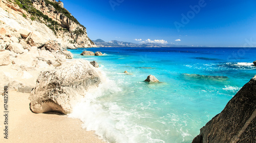 Photo  The beautiful Cala Goloritzè in Sardinia