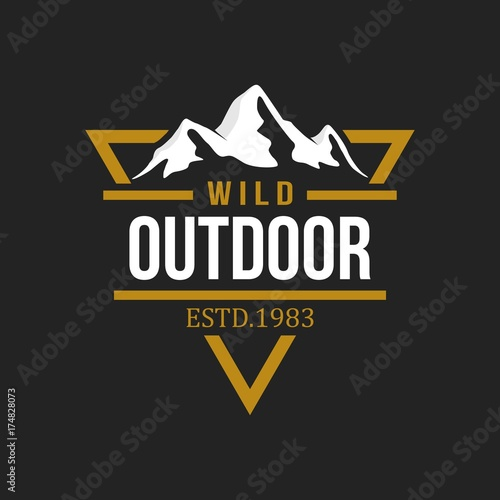 adventure and outdoor logo design template buy this stock vector