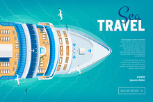 Cruise Liner Travel Banner