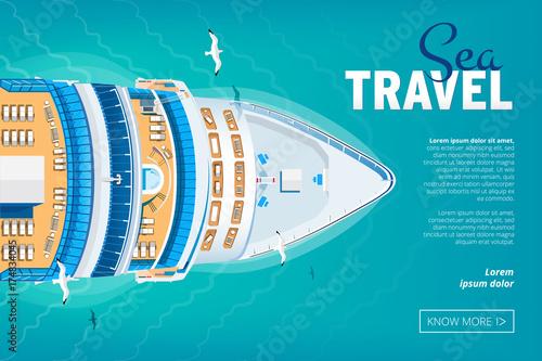 Tableau sur Toile Cruise liner travel banner