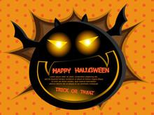 Abstract Fat Bat Halloween Bac...
