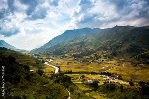 Foto auf Gartenposter Reisfelder Rice fields at Northwest Vietnam