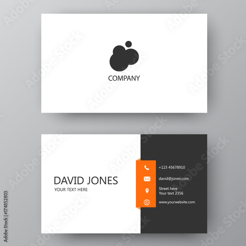 Valokuva  Modern presentation card with company logo