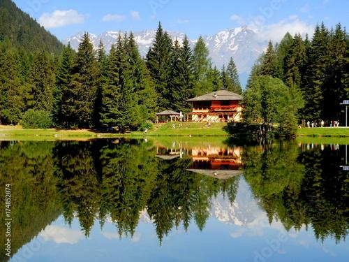 Crédence de cuisine en verre imprimé Reflexion Lago dei Caprioli - Dolomiti