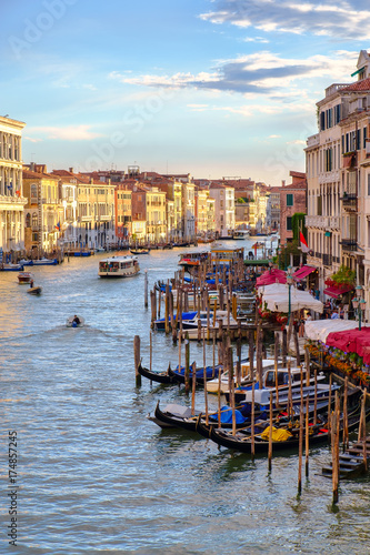 Canvas Prints The Grand Canal in Venice at sunset