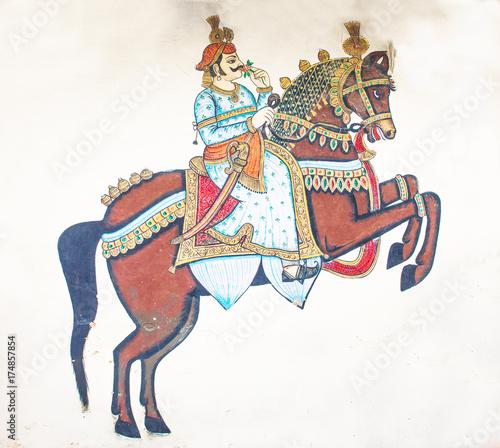 Fotografie, Obraz  City palace painting