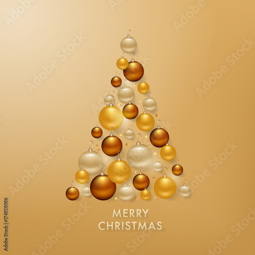 christmas-tree-from-golden-balls-background