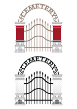 Cemetery Gate Vector