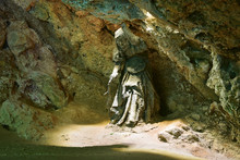 Statue Of Mother Shipton's Cave In Knaresborough