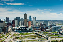 Aerial View Of Cincinnati Ohio From The West