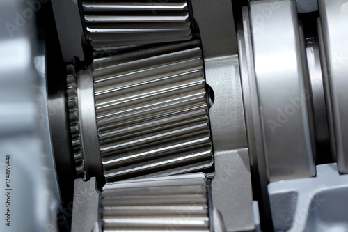 reliable solid mechanism of metal shafts with worm gear Poster