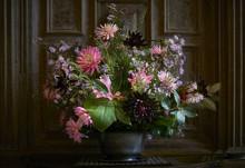 Autumn Flower Arrangement In A...
