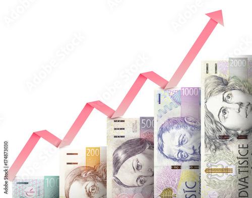 Photo  Money growth graph