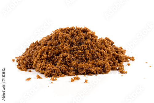 Canvas Prints Spices Brown sugar on white