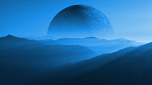 Mountain Range On An Alien Planet