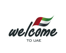 Welcome To UAE Flag Sign Logo ...
