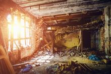 Inside Ruined Abandoned House ...