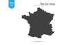 Simple Map Silhouette Of France. Vector Illustration