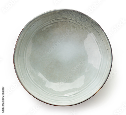 Leinwand Poster Empty grey bowl
