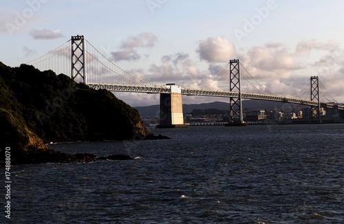 Obraz na dibondzie (fotoboard) Most w Zatoce San Francisco w drodze do miasta