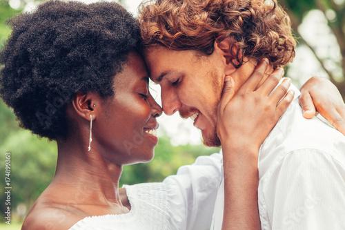 Fotografie, Obraz  Happy couple enjoying silence and their love