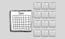 Hand Drawn Calendar Vector Illustration