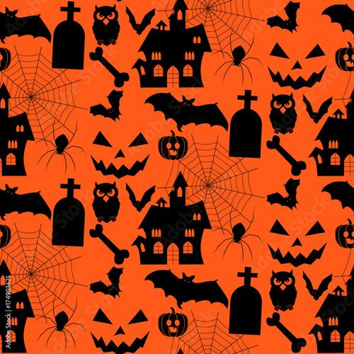 Cotton fabric Halloween background. vector illustration