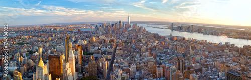 Papiers peints New York City New York City Manhattan panorama before sunset